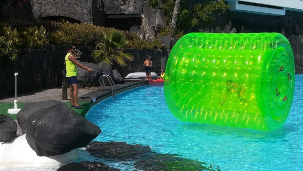 cilindro acuático inflable - la arañita recreación