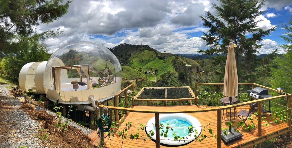 Zorb House, bubble hotel, hotel burbuja en Colombia