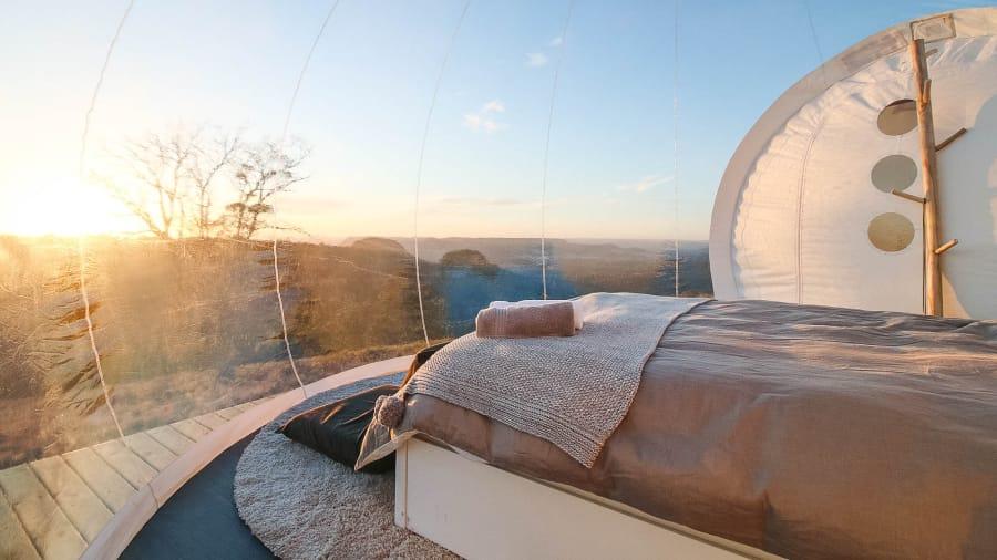 Zorb House, bubble hotel, hotel burbuja en Australia