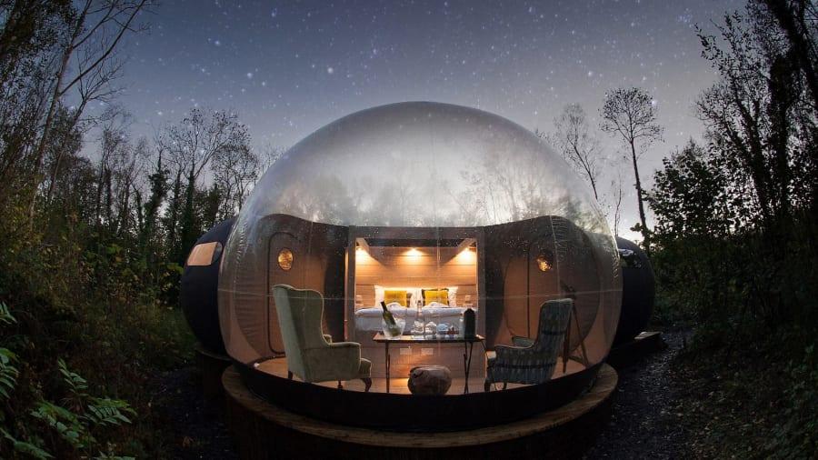 Zorb House, bubble hotel, hotel burbuja en Irelanda